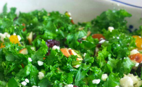 Kale, Cranberry and Feta Salad with Stevia-Lime Dressing