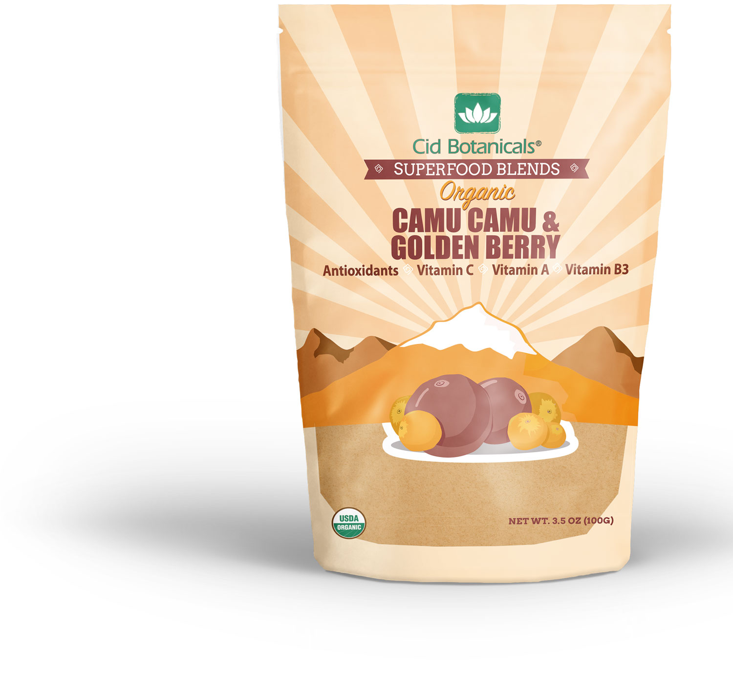 Cid Botanicals Superfood Blends: Camu Camu & Incan